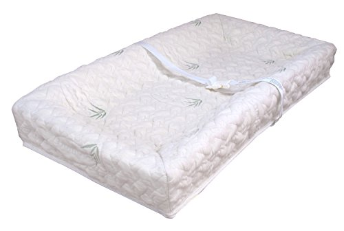 "LA Baby 32"" Four Sided Pad with Natural Rayon from Bamboo Quilted Cover"