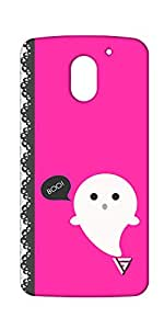 Vogueshell Boo Printed Symmetry PRO Series Hard Back Case for Motorola E3