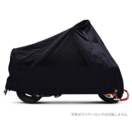 バイクカバー カバーバイク用 風飛防止付 オートバイクカバー ブラック