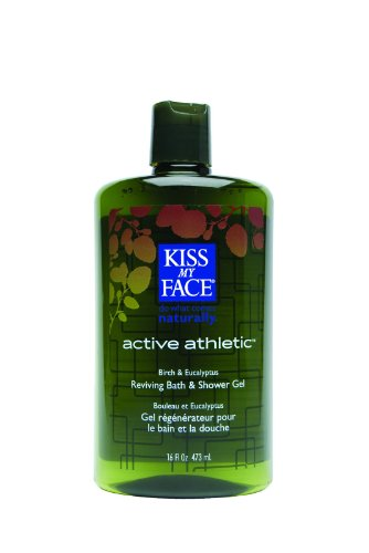 Kiss My Face 0680207 Bath and Shower Gel Active Athletic Birch and Eucalyptus - 16 fl oz Athletic Bath
