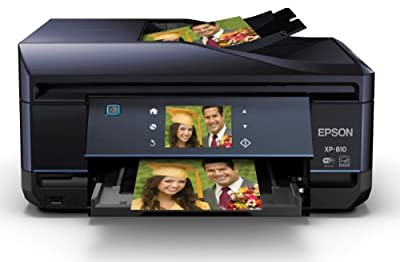 Epson C11CD29201 Expression Premium XP-810 Small Wireless Color Photo Printer with Scanner, Copier and Fax