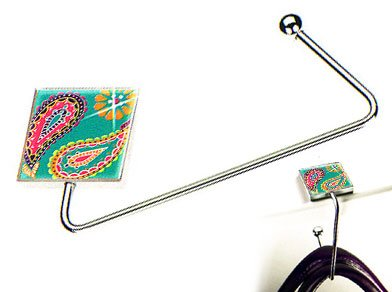 Fancy Paisley Purse Hanger w/ Swarovski Crystals