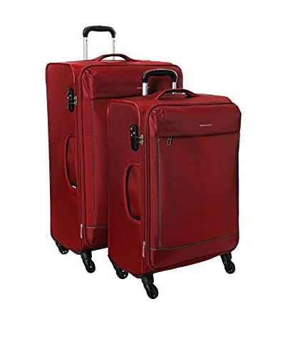 Roncato 2er Set Trolley, halbstarr bordeaux