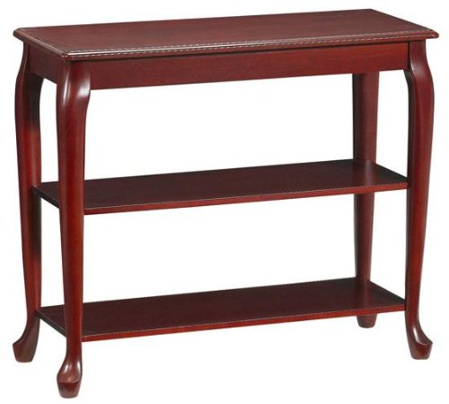 Cheap Console Table Without Drawers 2-shelf 36″w Mahogany (B001BU4CHU)