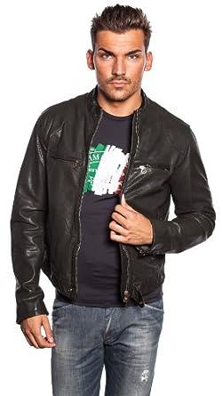 armani jeans lederjacke s6b43 be herren mehrfarbig 56. Black Bedroom Furniture Sets. Home Design Ideas