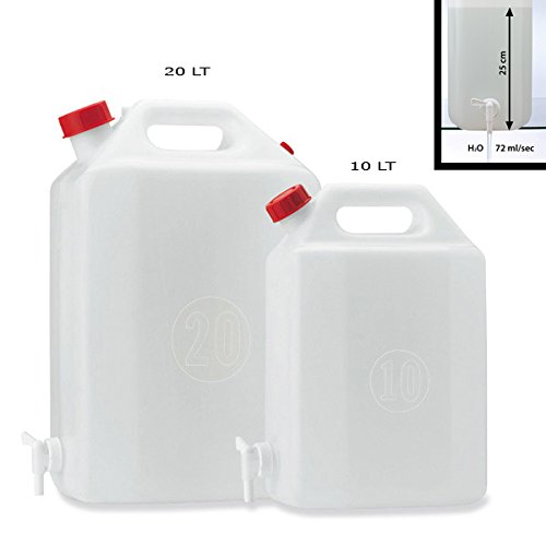Réservoir polyéthylène 10 L avec robinet d'eau vin Plastime