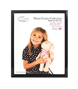 Inov8 12 x 10-Inch British Made Traditional Picture/Photo Frame, Value Black
