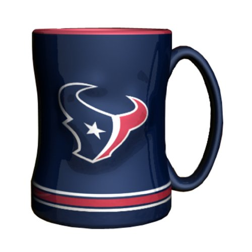 NFL Houston Texans Sculpted Relief Mug, 14-ounce, Deep Steel Blue (Houston Texan Coffee Cup compare prices)