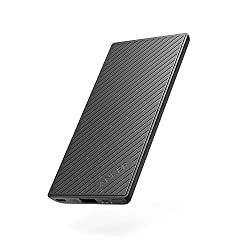 Anker PowerCore Slim 5000 Portable Charger, Ultra Slim External Battery with iPhone battery technology and Fast-Charging PowerIQ, Pocket Friendly Power Bank, Perfectly designed for iPhone