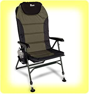 EARTH ULTIMATE 4-POSITION OUTDOOR CHAIR w. NEW ADJUSTABLE FRONT LEGS AND COMFORTABLE... by Earth
