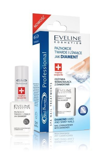 EVELINE COSMETICS Nail Therapy Professional No1 NAIL CARE BRAND (DARK BLUE with diamonds) by Eveline
