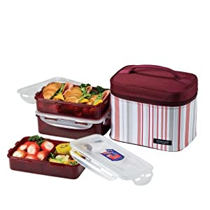 lock lock picnic lunch box bento set hpl817dp purple. Black Bedroom Furniture Sets. Home Design Ideas