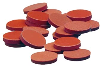 "Kimax 73816-20 PTFE-Faced Red Rubber Flat Disc Septa, 0.060"" Red Rubber Thickness, 20mm Diameter (Case of 144)"