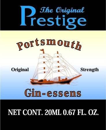 Prestige Essences Portsmouth Gin 20ml Flavours 750ml of Vodka, Spirit, Moonshine