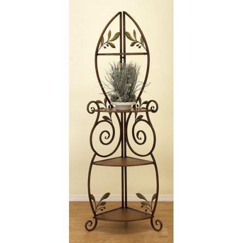 Classy Metal Wood Decorative Corner Rack