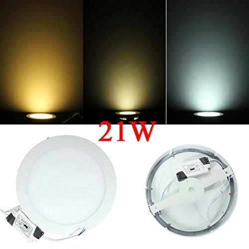 21W Round Ceiling Ultrathin Panel Led Lamp Downlight Light 85-265V