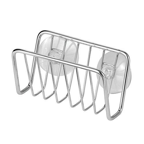 interdesign-06610eu-rondo-support-a-ventouse-d-evier-pour-eponge-grattoir-savon-acier-inoxydable-chr