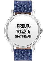 Wrist Watch For Men - Proud To Be A Chhattisgarhi Best Gift For CHHATTISGARHI - Analog Men's And Boy's Unique...