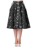 Hell Bunny Rock BANDANA 50'S Skirt black