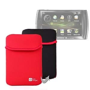DURAGADGET Housse étui réversible pour Archos 5 Internet Tablet et Archos 48 Internet Tablet tablette 5 pouces - en néoprène Rouge / Noir résistant à l'eau