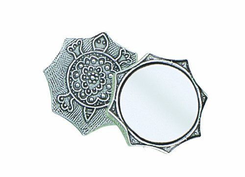 Crosby & Taylor Turtle Pewter Purse Mirror