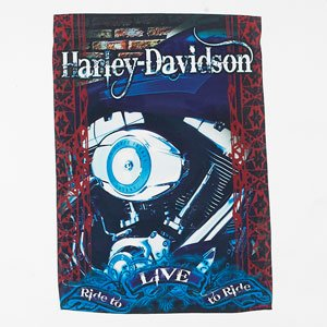 Harley Davidson Motorcycles Engine Garden Flag - Ride To Live, Live To Ride