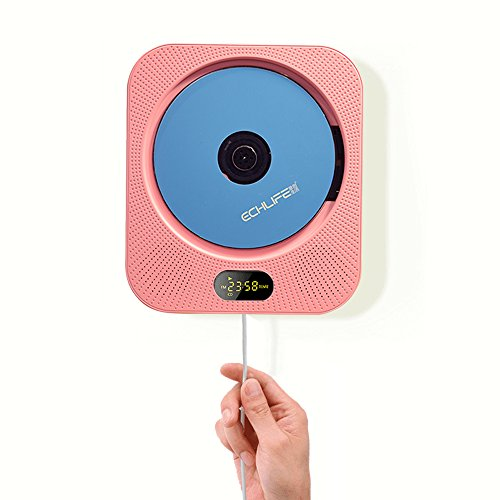 ECHLIFE Latest Wall-mounted Bluetooth Hi-Fi CD Music Player