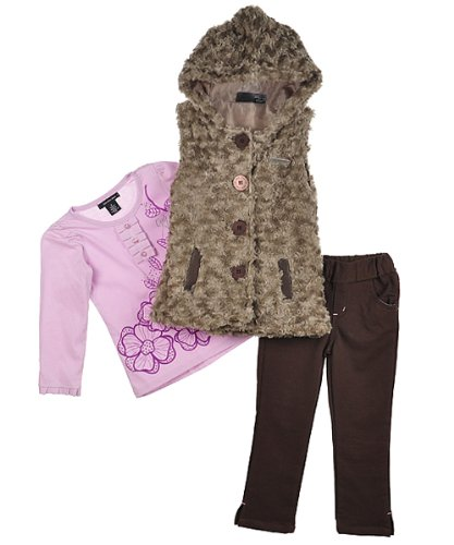 """Calvin Klein """"Plush Swirl"""" 3-Piece Outfit (Sizes 4 - 6X) - assorted colors, 4"""