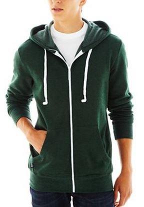 Hoodie Buddie Jacket Sweatshirt Earbuds Heather Green (Xxl)