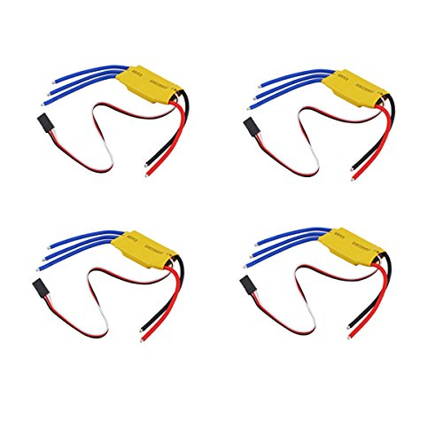 4x 30A Brushless Motor speed controller RC ESC T-rex 450 V2 Helicopter Boat plastic yellow - by LC Prime® (450 Esc compare prices)