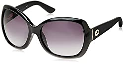 Gucci Gradient Oversized Sunglasses (Black) (GG-3715/S-INA61HD)