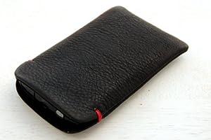 iPhoneケースL レザー(牛革)スマートフォンカバー【Bumpers/Airジャケット/XPERIA/GALAXY/他】 ブラック