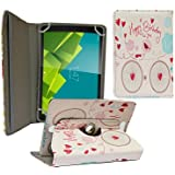 ECellStreet 360° Degree Rotating 7 Inch Flip Cover Diary Folio Case With Stand For Dell Venue 7 3741Tablet Happy...
