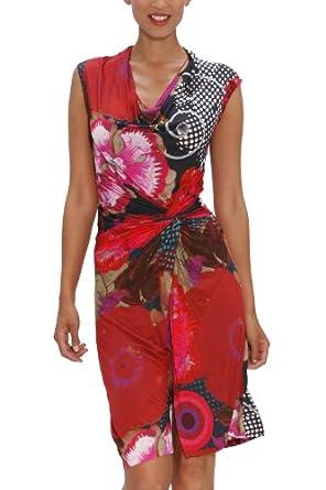 robe desigual azucena couleurs rouge moyen xs a xl xl v tements et accessoires. Black Bedroom Furniture Sets. Home Design Ideas