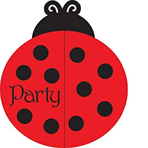Creative Converting Ladybug Fancy Party Invitations, 25 Count from Creative Converting