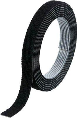 TRUSCO マジックバンド結束テープ 両面 黒 10mm×1.5m