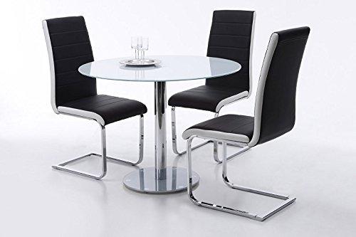 tisch glastisch k chentisch beistelltisch esstisch s ulentisch rund sicherheitsglas. Black Bedroom Furniture Sets. Home Design Ideas