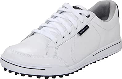 Ashworth Men's Cardiff Golf Shoe,White/White/Dark Marine,7 M US