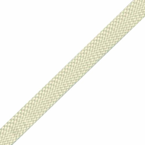 Venus Ribbon 1/2-Inch Polyester Foldover Braid, Ecru, 5 Yards