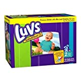 Luvs Premium Stretch Diapers - Size 2 (228 count)