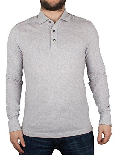 Gant Uomo Camicia Oxford maniche lunghe Pique Rugger Logo Polo, Grigio, X-Large