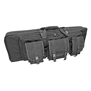 Condor Double Rifle Case (Black, 42 x 13 x 4.5-Inch)