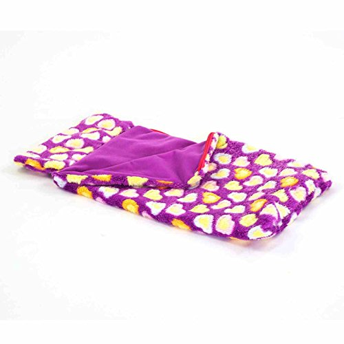 Soft-Purple-Heart-Pattern-18-Doll-Sleeping-Bag-Fits-American-Girl-Madame-Alexander-Dolls-Accessories-Furniture-Sleepover-Party-Bedding-Fun-Best-Seller-Safety-Tested