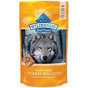 Blue Buffalo Wilderness Trail Treats Grain-Free Turkey Dog Biscuits, 10 oz.