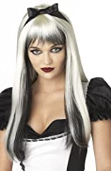 California Costumes Enchanted Tresses Wig, Black/White, One Size