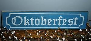 OKTOBERFEST German Shabby CUSTOM Chic Biergarten Decor Wood Sign CHOOSE COLOR by Prim and Proper Decor