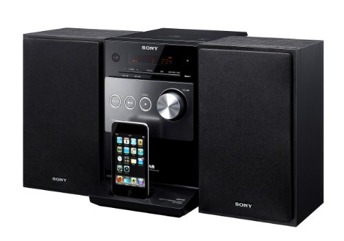 Sony CMT-FX300i - Micro system with iPod cradle - radio / CD / MP3 - gloss black