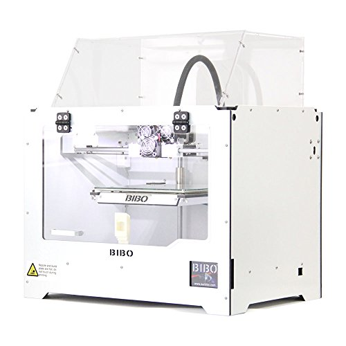 BIBO 3D Printer Cut Printing Time In Half Metal Frame Dual Extruder Touch Screen Filament Detect Demountable Glass Bed
