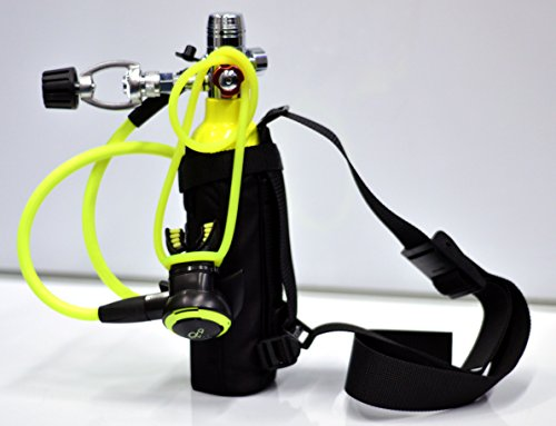 DXDIVER Bailout Pony Bottle Diving Kit with Nylon Belt - Hose - 6 cf Tank - SPG Gauge - Regulator - Fill Adapter - Spare Secondary Air Scuba Dive Egressor (Scuba Tank Inspection compare prices)