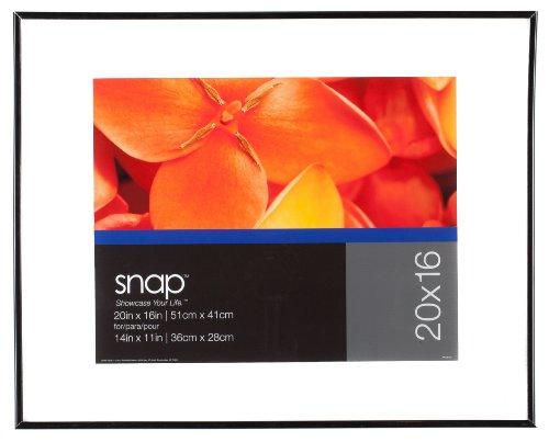 Snap Black Flex Float Frame, 16-Inch by 20-Inch